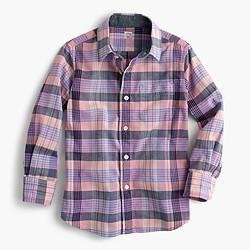 Kids' madras shirt