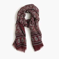 Drake's® lightweight scarf in batik print