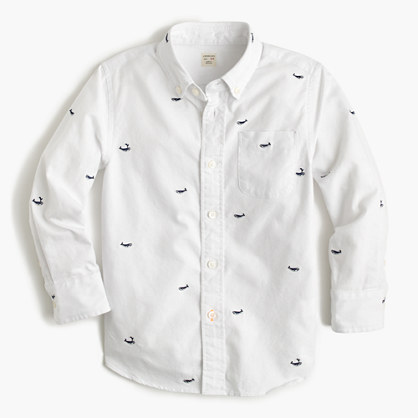 Kids' critter vintage oxford shirt in whales