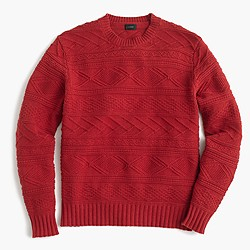 Cotton guernsey crewneck sweater