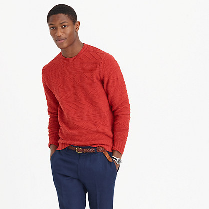 Cotton guernsey crewneck sweater