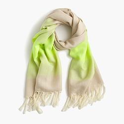 Faded stripe scarf