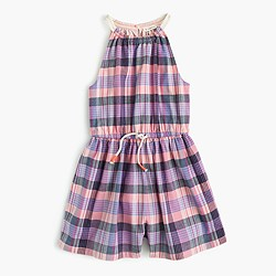 Girls' madras romper