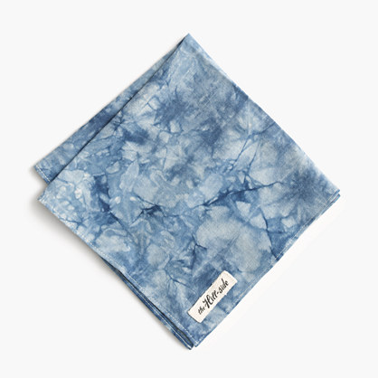 The Hill-side® cotton shibori pocket square