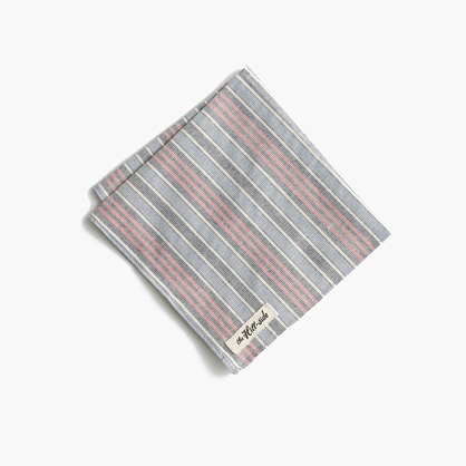 The Hill-side® pocket square in border stripe