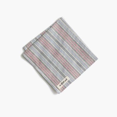 The Hill-side® pocket square in border stripe