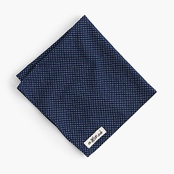 The Hill-side® pocket square in indigo dot