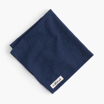 The Hill-side® pocket square in indigo dot