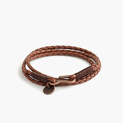 Caputo & Co.™ braided leather bracelet
