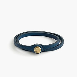Caputo & Co.™ leather snap bracelet