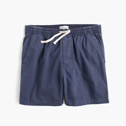 Knit dock short in garment-dyed cotton