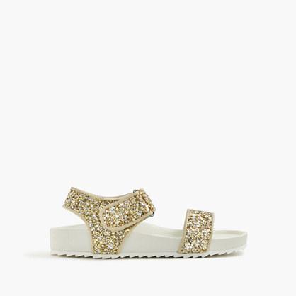 Girls' glitter slide sandals