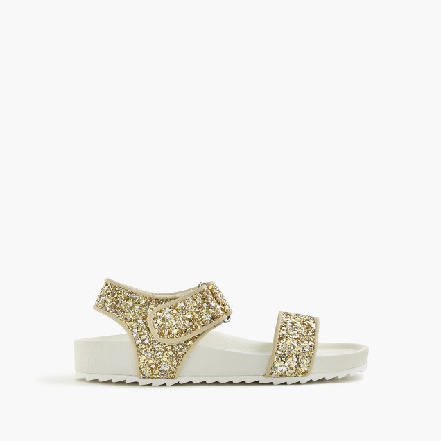 Girls' glitter slide sandals