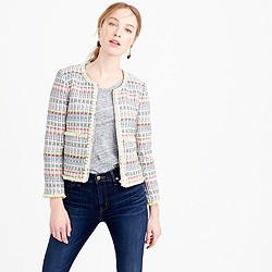 Collection neon tweed jacket