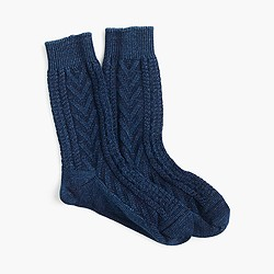 Anonymous Ism™ indigo cable-knit crew socks