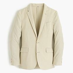 Ludlow summerweight cotton-linen blazer in khaki sand