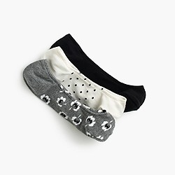 Polka-dot no-show socks three-pack