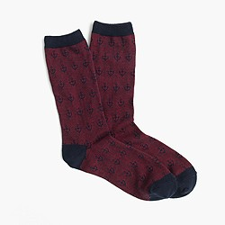 Anchor striped trouser socks