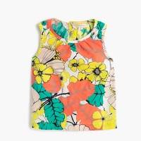 Girls' sleeveless top in punchy hibiscus