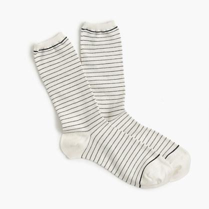 Striped heather trouser socks