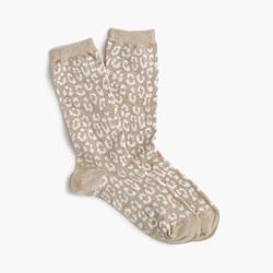Leopard trouser socks