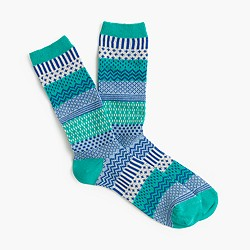 Wintry Fair Isle trouser socks