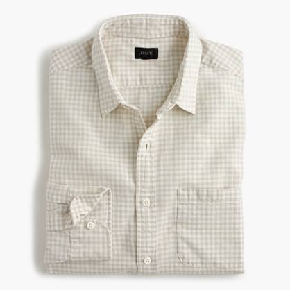 Slub cotton shirt in gingham