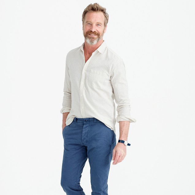 Slub cotton shirt in gingham