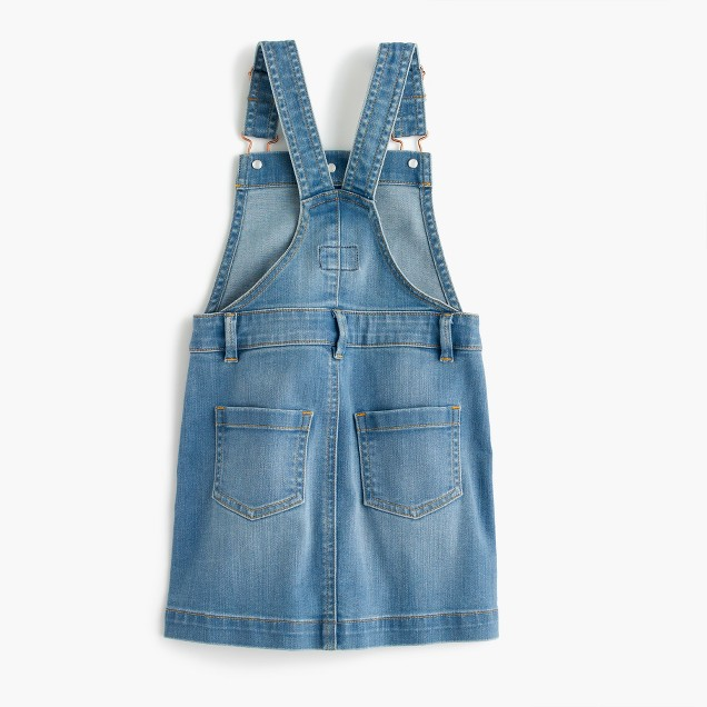 Girls' denim overall dress