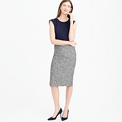 Pencil skirt in cotton tweed