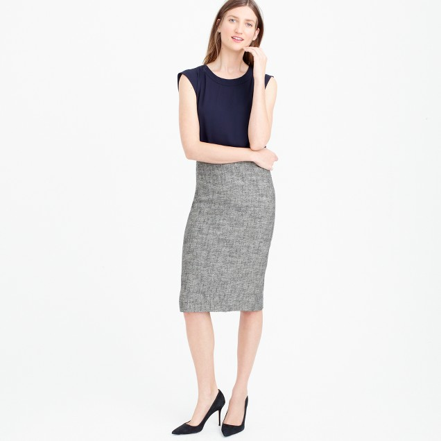 Pencil skirt in cotton tweed
