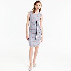 Sleeveless dress in Italian linen