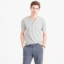 Short-sleeve tipped henley