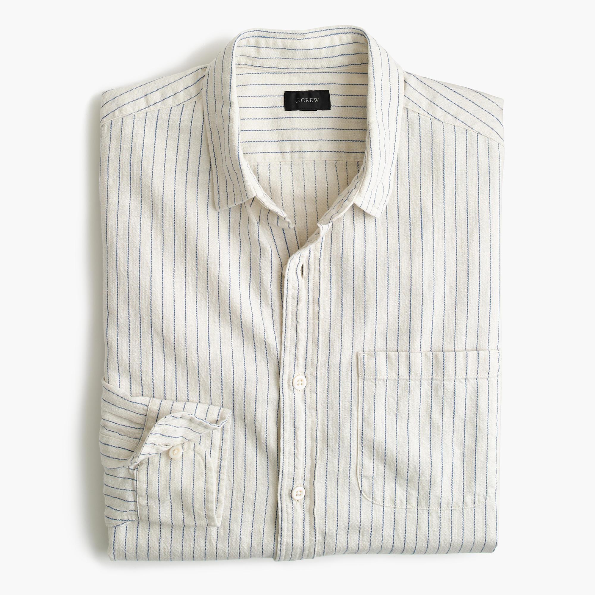 Slub cotton shirt in stripe j crew for What is a slub shirt