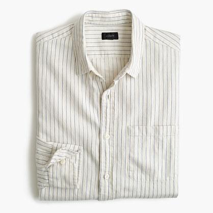 Slub cotton shirt in stripe