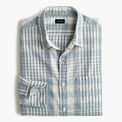 Slub cotton shirt in plaid