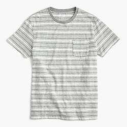 Tall heathered T-shirt in grey stripe