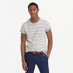 Heathered T-shirt in grey stripe