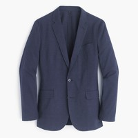 Ludlow summerweight cotton-linen blazer in coastline navy