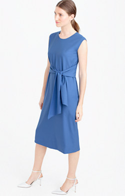 Overtime dress in Super 120s wool