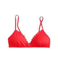 Scalloped French bikini top in Italian matte