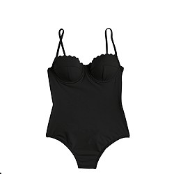 Scalloped underwire one-piece swimsuit in Italian matte