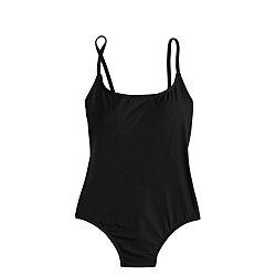 Long torso seamless underwire one-piece swimsuit in Italian matte