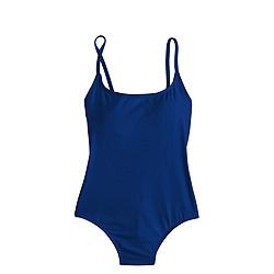 Long torso seamless underwire one-piece swimsuit in Italian matte