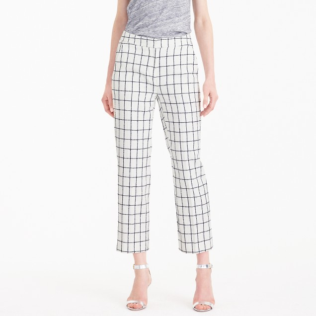 Patio pant in windowpane tweed