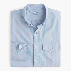 Slim lightweight oxford shirt in blue stripe