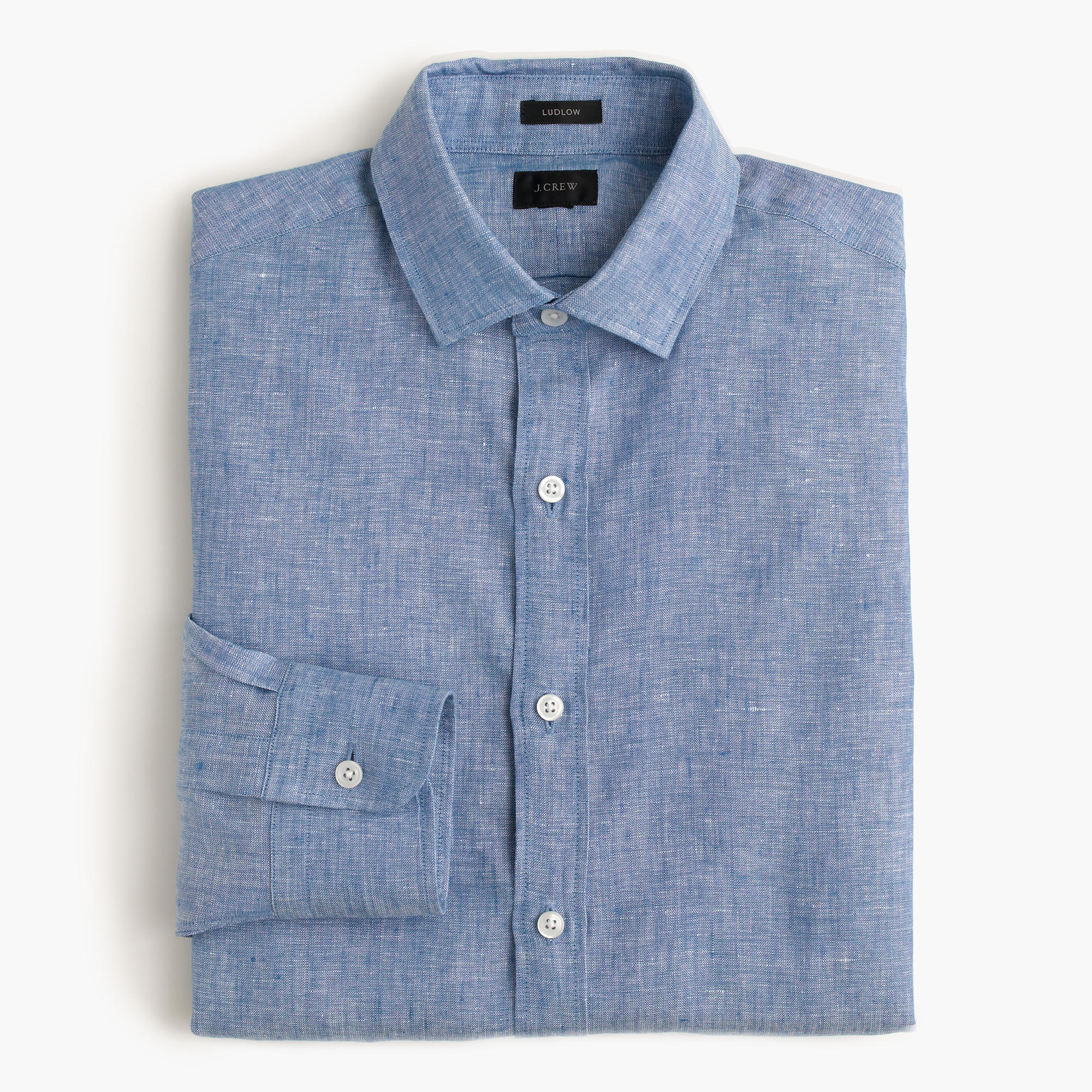 Ludlow shirt in d lav irish linen men 39 s shirts j crew for Irish linen dress shirts