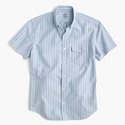 Short-sleeve lightweight oxford shirt in stripe
