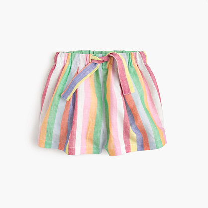 Girls' pull-on short in candy stripe