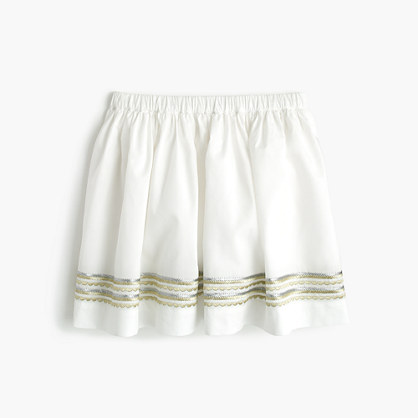Girls' embroidered pull-on summer skirt